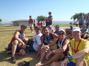 Craig with long time triathlon friends Steve Tally, Troy Cundari and Bill Whitman.
